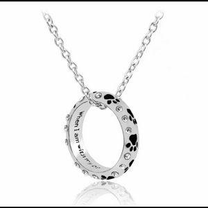 Jewelry - New Bohemia 🐾 paw print ring/pendant necklace